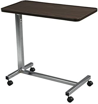 amazon com drive medical non tilt top overbed table chrome rh amazon com