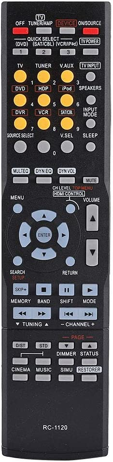 Serounder RC1120 Remote Control for Denon AV Receiver AVR-590 AVR-591 AVR390 DHT590BA AVR-1610 AVR-391