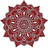 MiniPoco Mandala Flower Indian Bedroom Wall Decal Art Stickers Mural Home Vinyl Family Decor 42cm x 42cm (red)