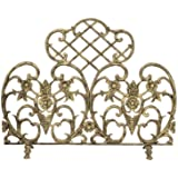 Uniflame Single Panel Cast Aluminum Screen, Antique Gold