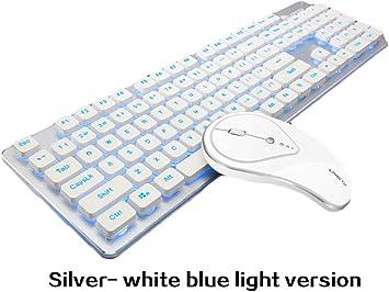 Love Life Teclado inalámbrico Mouse 2.4GHz Recargable Combo ...