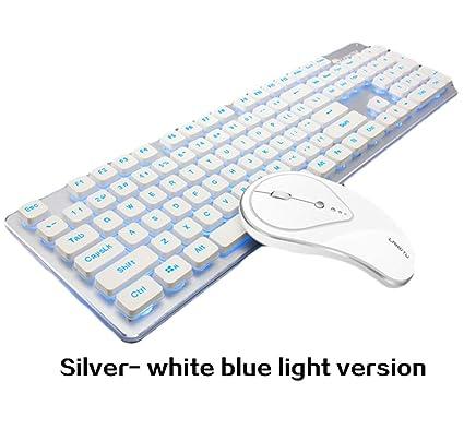 Love Life Teclado inalámbrico Mouse 2.4GHz Recargable Combo de Teclado y Mouse inalámbrico, para