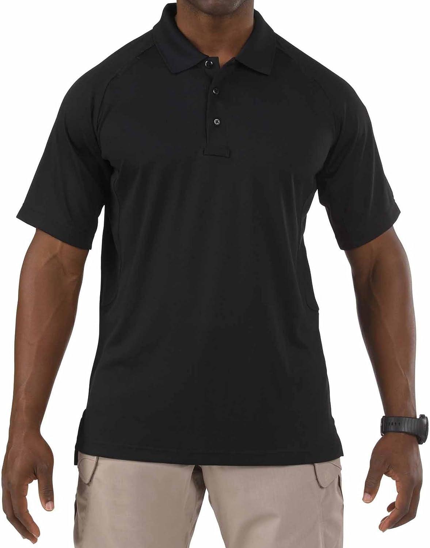 5.11 Men's Performance Short Sleeve Polo Tactical Shirt, Style 71049, Black, Large