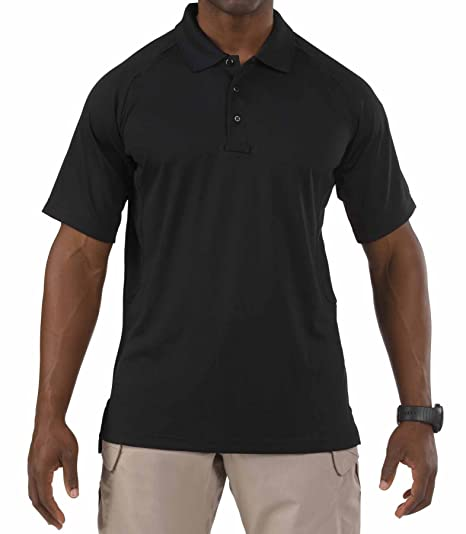 51edd3021 5.11 Men's Performance Short Sleeve Polo Tactical Shirt, Style 71049,  Black, 2X-. Roll over image to ...