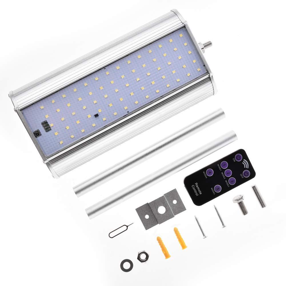 Lacyie Pared Lámparas Solares Farola Jardín con Sensor de Movimiento y mando a distancia,70LEDs 1000LM Ultra Brillante Focos Exterior Solares Impermeable ...