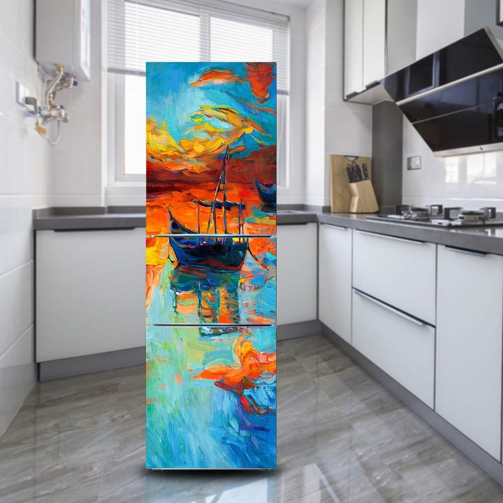 Pegatinas de pared 3D Pintura Al Óleo Paisaje Autoadhesivo Vinilo ...