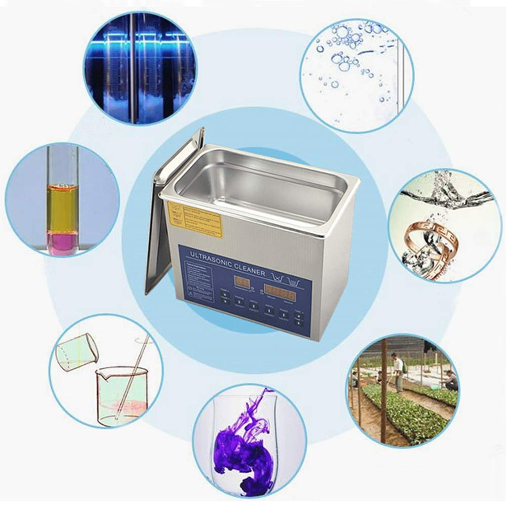 Dual Double Frequency 28/40khz Digital Ultrasonic Cleaner Cleaning Machine 3L (220V) by MXBAOHENG (Image #5)