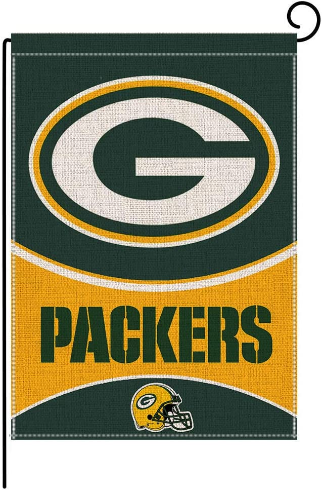 Wlily Sweet Home Garden Flag Vertical Double Side, 12.5 x 18 inch Various Football Team Burlap Flags, Small Courtyard Outdoor Decor A101