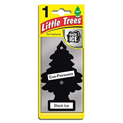 Car Freshner 31152 Black Little Trees Car and House Hanging Freshener, Ice (Pack of 12), 12 Pack: Automotive