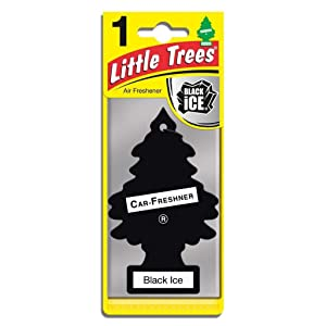 Little Trees Car Freshener, Black Ice, 10-Pack