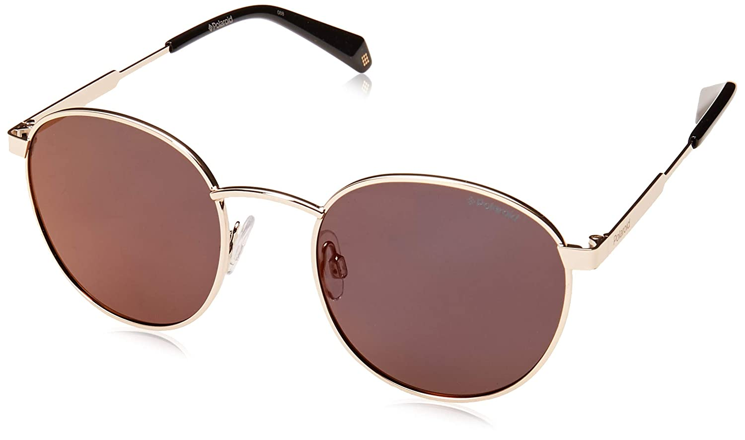 2be8978220 Amazon.com  Polaroid PLD 2053 S Gold Burgundy Red Polarized Lens Oval  Unisex Sunglasses