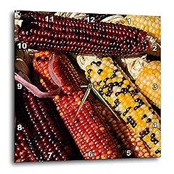 3dRose Danita Delimont - Food - Santa Fe, New Mexico, USA. Dried Indian Corn. - 10x10 Wall Clock (DPP_314942_1)