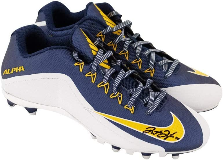 Justin Herbert Autographed Nike Alpha Football Cleats Bas Coa Blue And Gold At Amazon S Sports Collectibles Store