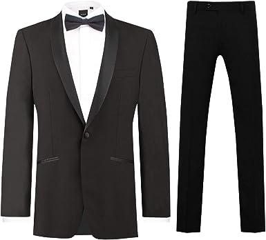 Dobell Mens Black Tuxedo Waistcoat Regular Fit 8 Button Double Breasted
