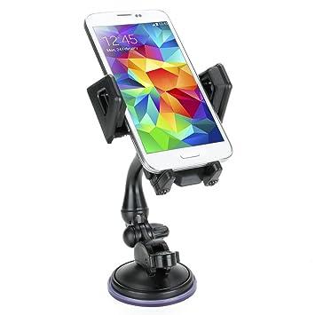 Soporte Ventosa Móvil Coche- Articulado y rotativo - Para Iphone 6s , Plus , 6 , 5s , 5c , 4s / Motorola Moto G / Dogee DG310 / Huawei P8 Lite / BQ ...