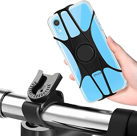 Bicycle Bike Phone Holder Mountain Road Bike Handlebar Mount Bracket silicone US