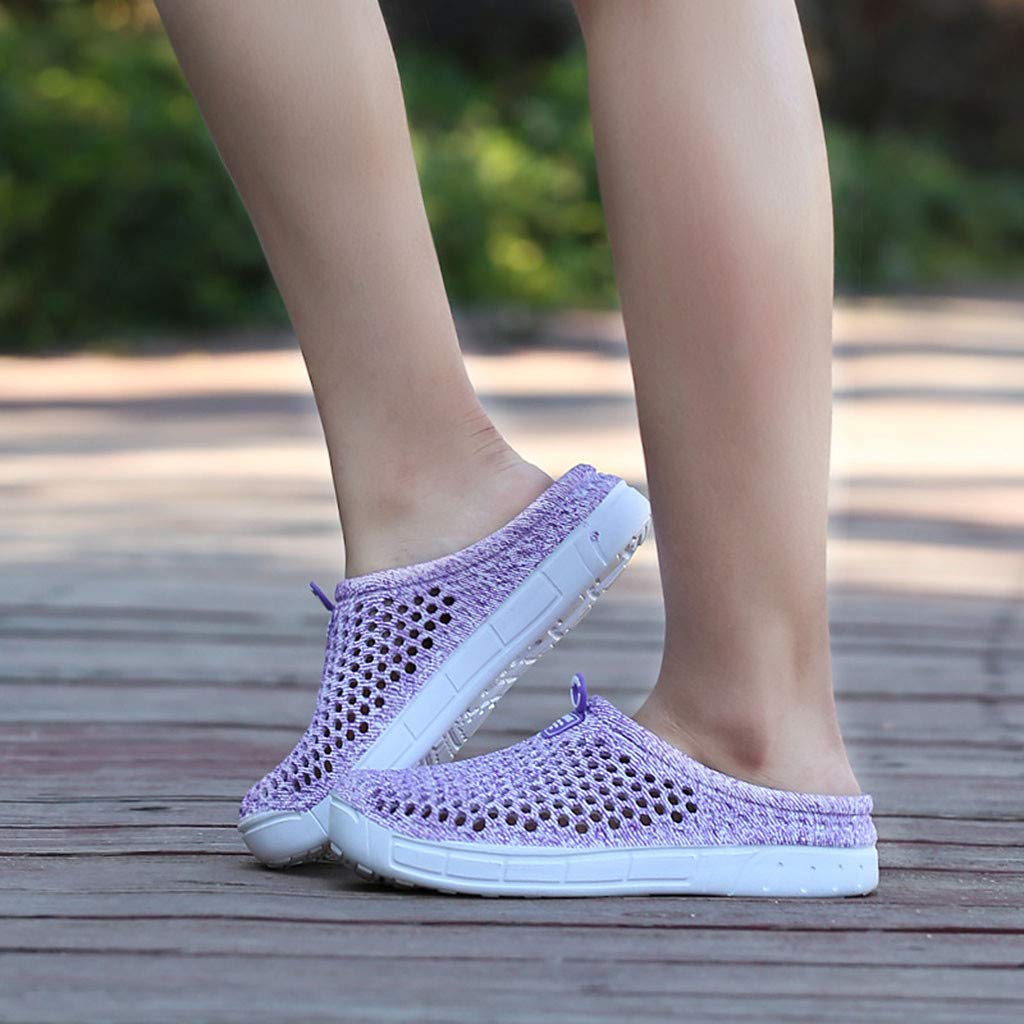 Womens Summer Sandals /& Beach Shoes Big Size Breathable Hollow Out Pure Color Casual Soft Flat Outdoor Shoes