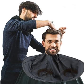 Friseur Umhang Haar Ausschnitt Mhang Regenschirm Salon Friseur Wasserdichter Friseurumhang Friseur Haar Fur Erwachsenen Und Kinder Schwarz