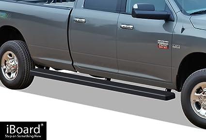 Dodge Ram Running Boards >> Amazon Com Aps 5in Wheel To Wheel Black Nerf Bars Custom