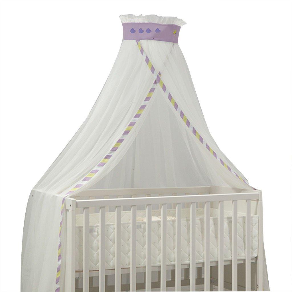 赤ちゃんのためのモスキートネット赤ちゃんのための虫の保護 - 赤ちゃんのベッドキャノピーをインストールする簡単 - 赤ちゃんと幼児のためのベビーベッドアクセサリー (色 : Purple) B07FVCL4JR Purple
