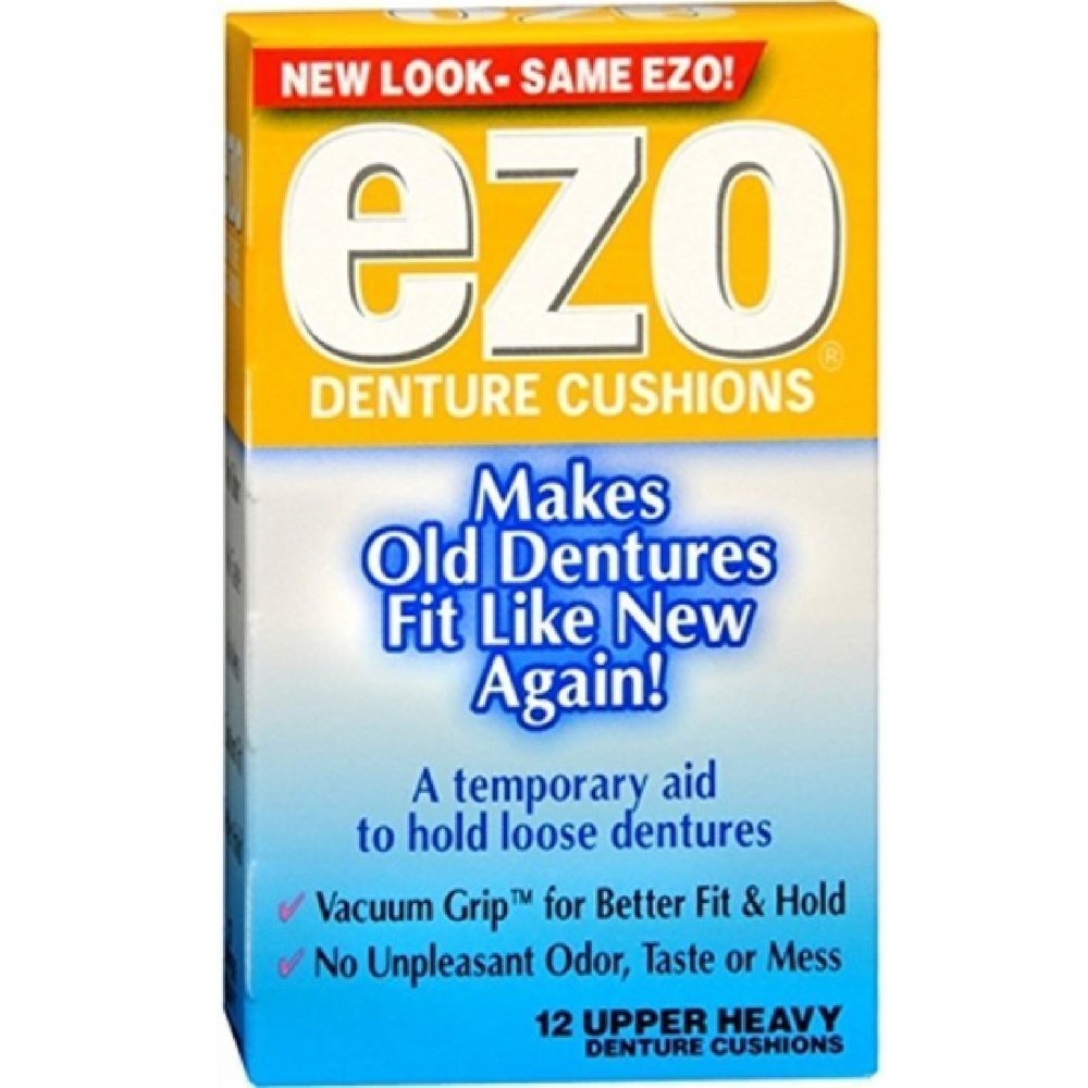 Ezo Denture Cushions Upper Heavy, 12 each by Med Tech Products (Pack of 2)