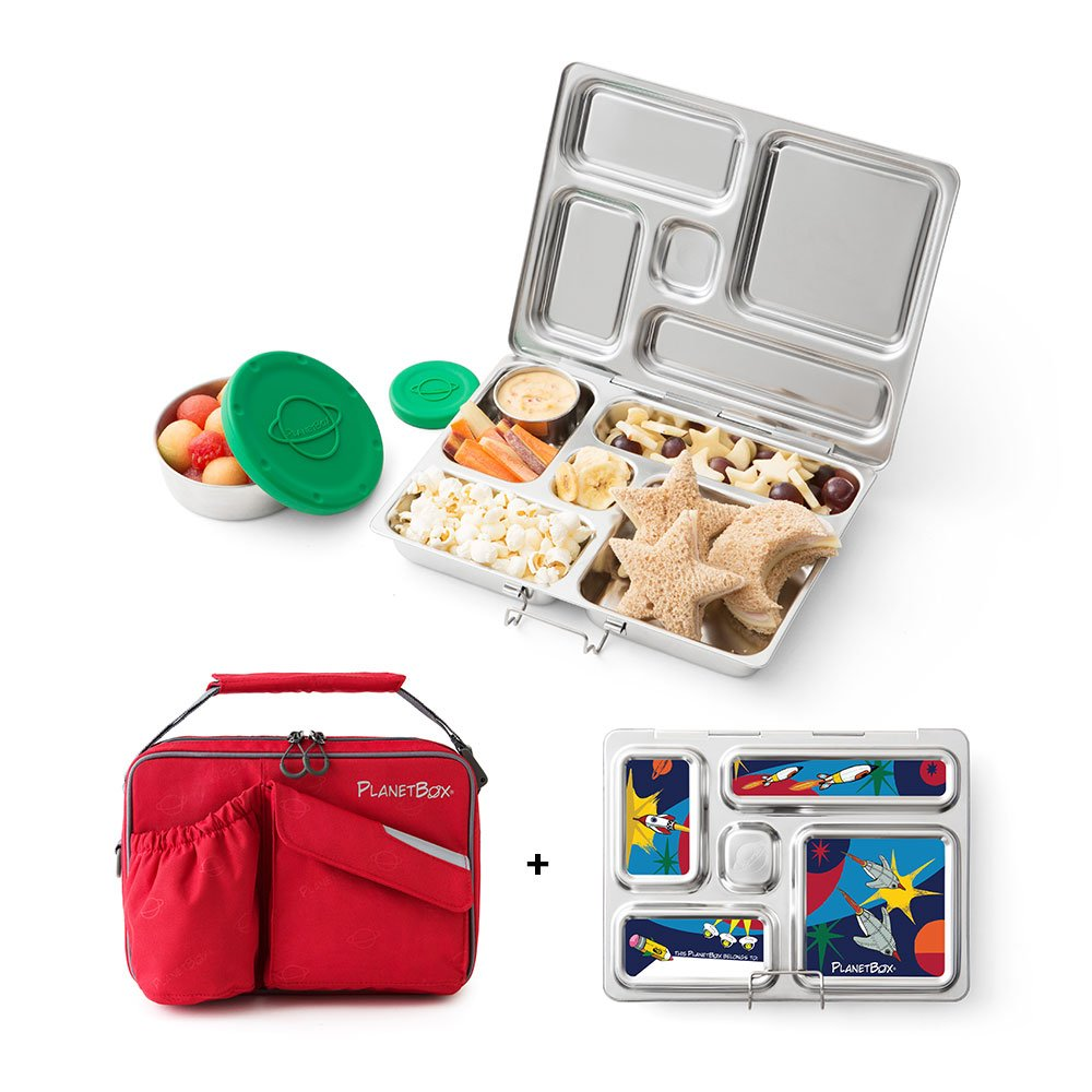 Amazon.com: PlanetBox ROVER Eco-Friendly Stainless Steel Bento Lunch ...