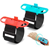 (2 Pack) Wrist Bands Compatible with Nintendo Switch Joy-Cons Controller, YanYoung Adjustable Elastic Strap Compatible…