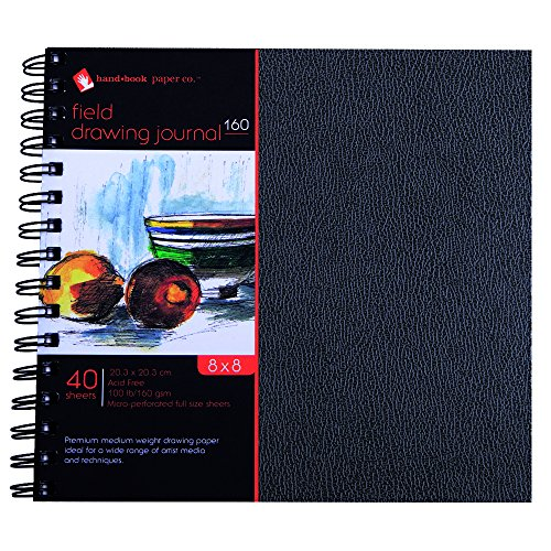 (Global Art Materials 761088 Hand Drawing Paper Book, 8
