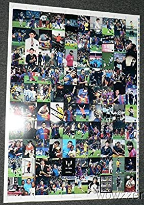 Lionel Messi Official Card Collection ENERMOUS UBELIEVABLE UNCUT SHEET! Includes 100 Cards Lionel Messi Collection Set featuring Cards with Maradona, Xavi & More! Amazing Rare Messi Collectible!