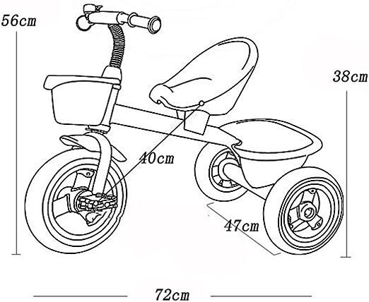 SXZHSM Bicicleta Portátil Triciclo Triciclo De Niños De 2 Años A 6 ...
