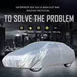 OCPTY Universal Car Cover 210'' Length fit for All Cars Polyester Full Auto Cover Durable Silver Grey(1pc)