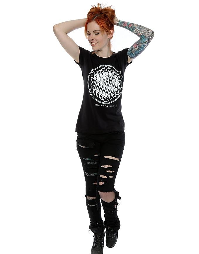 Bring Me The Horizon Womens Sempiternal Logo T-Shirt at Amazon Womens Clothing store: