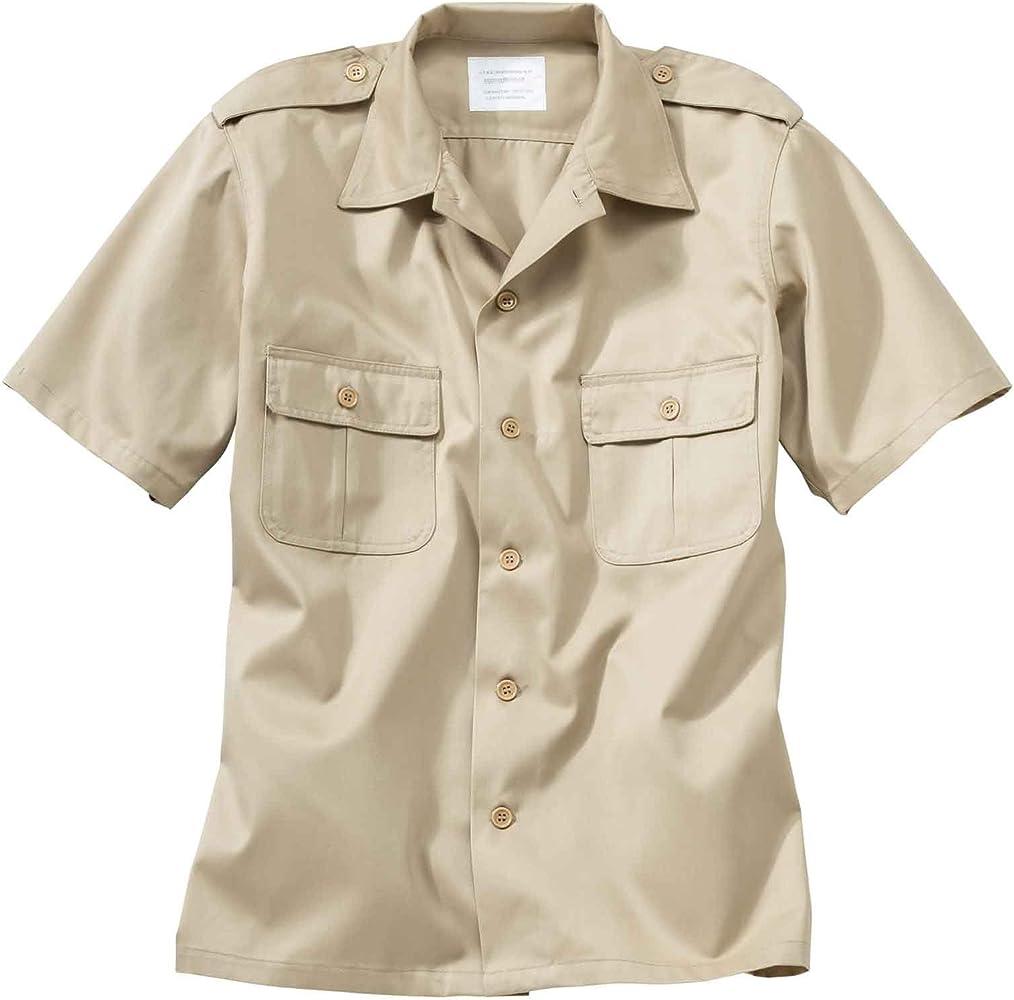 Surplus Raw Vintage – Army Camisa 1/2 Arm Beige – Moto de ropa y tiempo libre de ropa beige S: Amazon.es: Ropa y accesorios