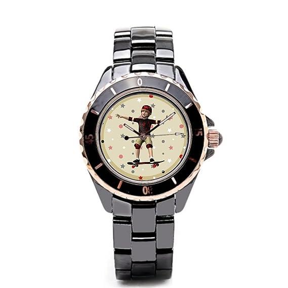 Se La rage Hombres Jóvenes de la muñeca relojes negro/oro
