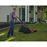 BLACK+DECKER 40V MAX Cordless Lawn Mower, 20-Inch (CM2043C) 12 Two 40V max Lithium ion batteries are included for twice the runtime Mulching, bagging and side discharge of grass clippings gives you 3-in-1 versatility Mow right up to edges and spend less time trimming thanks to the edgemax design