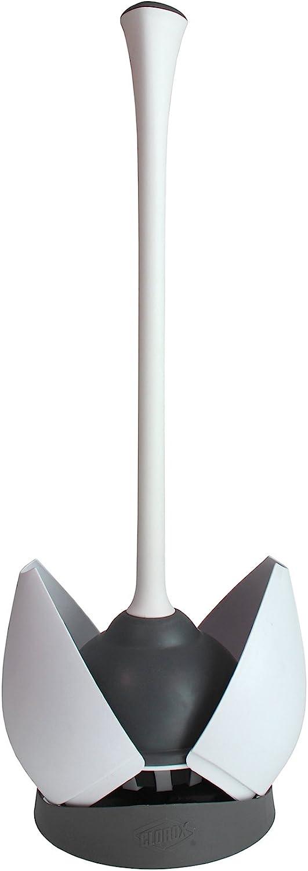 Clorox Toilet Plunger, White/Gray