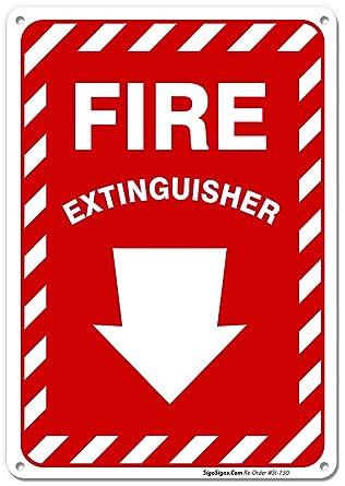 Amazon.com: Extintor signo con flecha, grande 10 x 7 ...