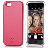 iPhone 6S Case, Elftear LED Light Up Luminous Selfie Cell Phone Case Illuminated Back Cover for Apple iPhone 6S iPhone 6 (Rose)