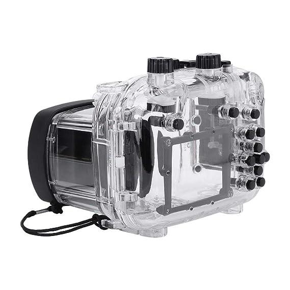 EBTOOLS 40m Unterwassergeh/äuse,130ft Wasserdichtes Geh/äuse f/ür Canon G11 G12