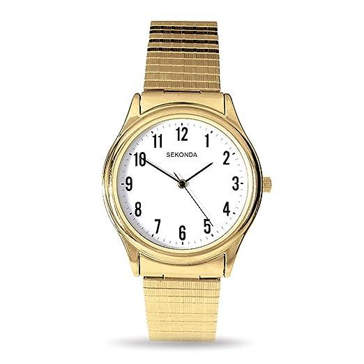 437967c81d03 Sekonda Model 3752.27 Gents Gold Plated Analogue Expander Watch: Sekonda:  Amazon.co.uk: Watches