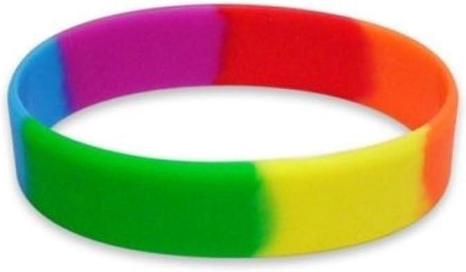 dojore 5 x arco iris pulseras de silicona. Elástico Multicolor pulsera orgullo: Amazon.es: Joyería