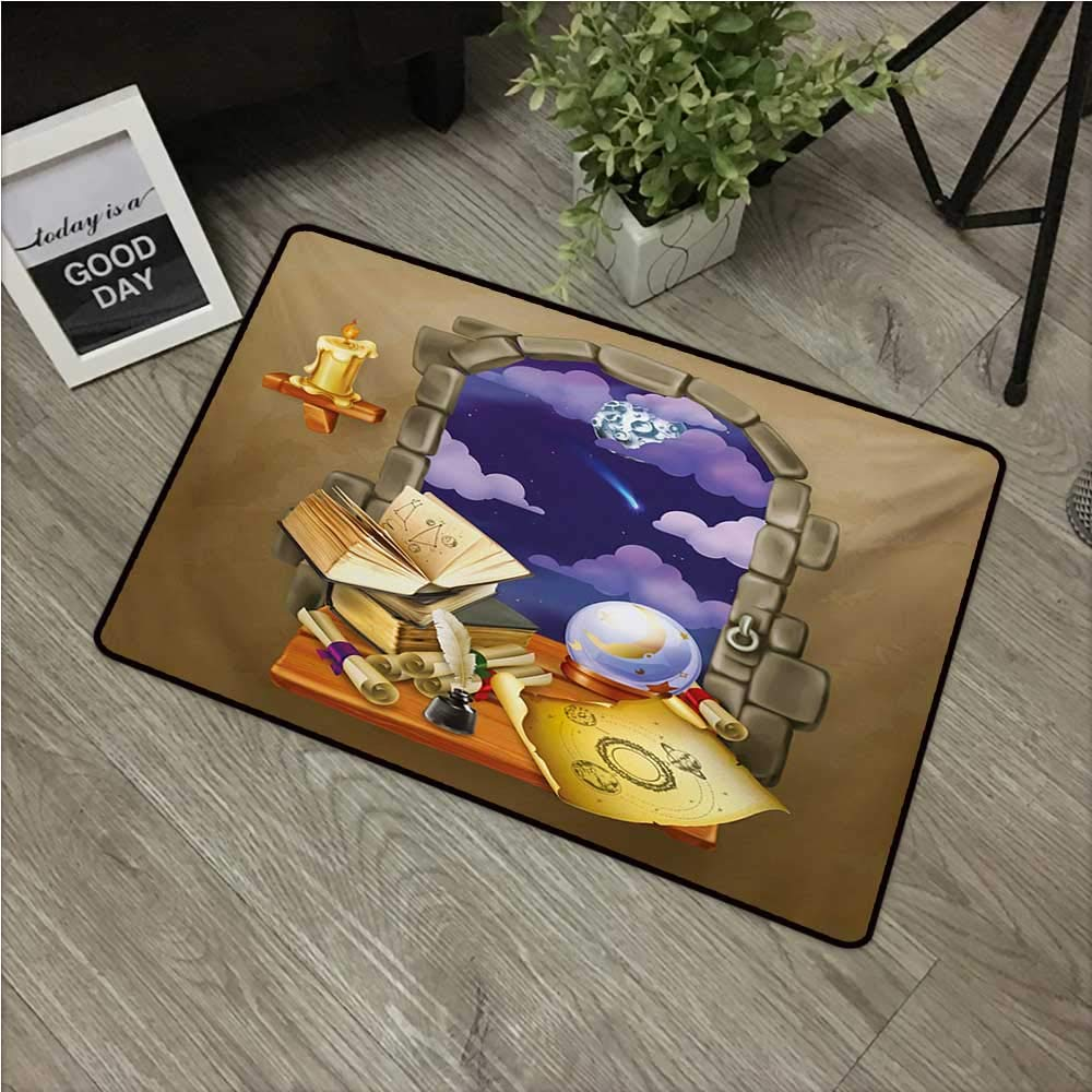Amazon com : Astrology,Doormats Medieval Ancient Castle Window with