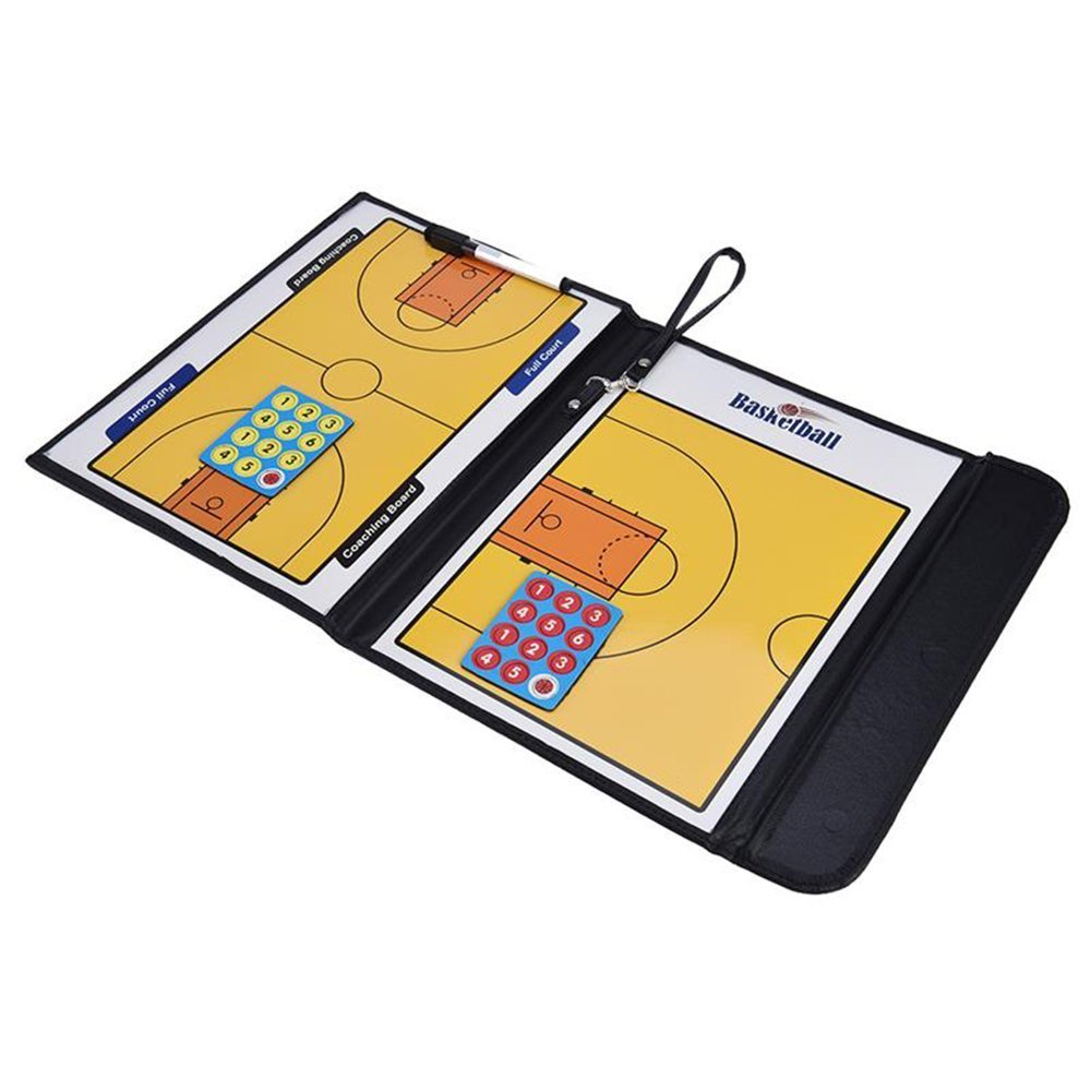 ShuGuan Basketball Coaching Board Double-Sided Coaches Clipboard Dry Erase Marker Basketball Tactical Board