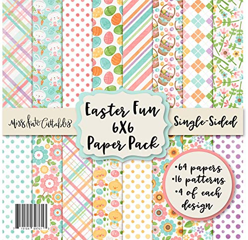 6X6 Pattern Paper Pack - Easter Fun - Card Making Scrapbook Specialty Paper Single-Sided 6