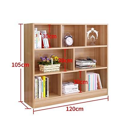 Amazon.com: HUO, 8 Shelf Bookshelf Storage Shelf Wooden ...