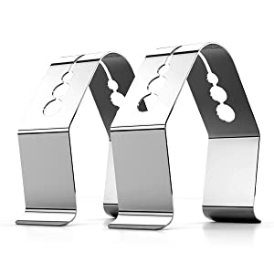 CAPPEC Universal A Style Meat Thermometer Probe Clip Holder Ambient Temperature Readings BBQ Smoker Oven Grill,Set of 2