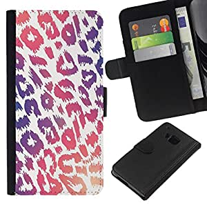 All Phone Most Case / Oferta Especial Cáscara Funda de cuero Monedero Cubierta de proteccion Caso / Wallet Case for HTC One M9 // Pattern Purple Pink White Fur