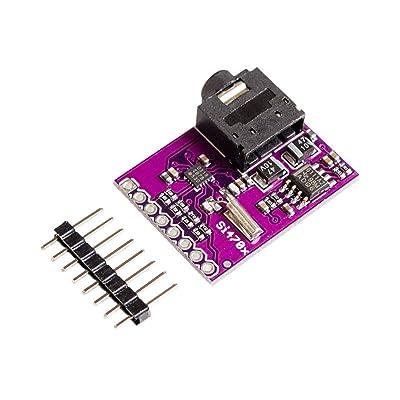 MXECO Si4703 Chip sintonizador FM Tarjeta de evaluación Junta de Desarrollo con encabezado de 8 pinos Servicio de Datos de Radio Detección de información: Electrónica