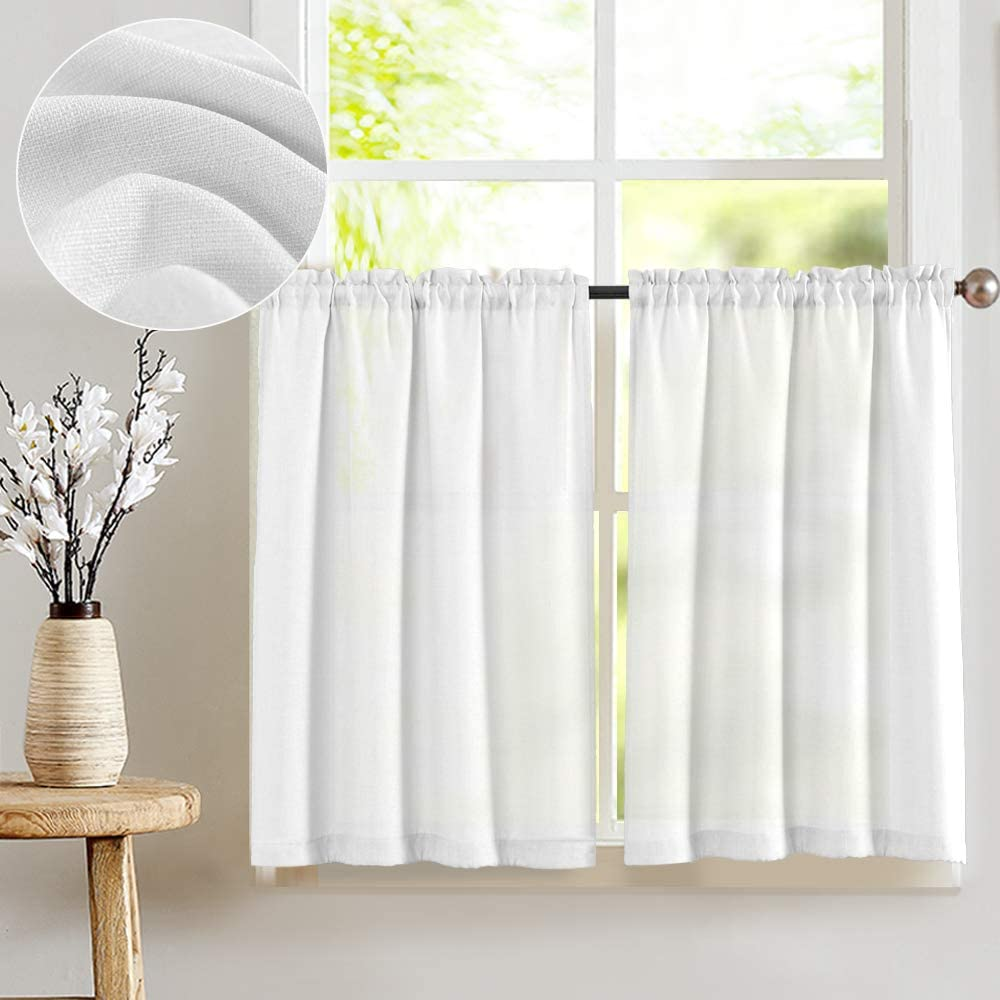 Half window cafe curtains for kitchen curtains
