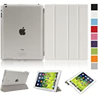 Bestmall Magnetic PU leather Ultra-thin Smart Cover + Hard Back Case For Apple Ipad 2/3/4 Smart Case & Cleaning Cloth & Screen Protector & Stylus Touch Pen with Keyboard Stand & Face time/Movie View Stand & Auto Wake / Sleep Function